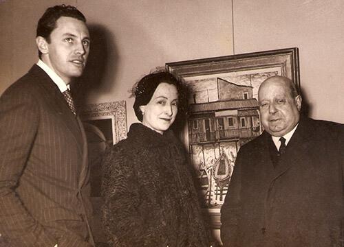 Exposição 1953 - quadro de Alejo vidal-Quadras