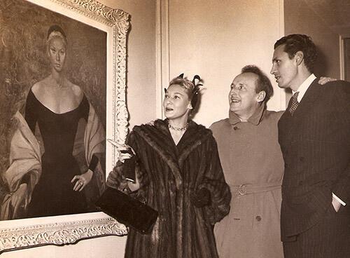 Exposição 1953 - quadro de Tilda Tamar pintado por Alejo vidal-Quadras