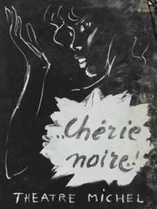 """Chérie Noire!"" n. II gouache on canson"