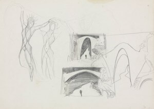 Settings and Costume design pencil sketch