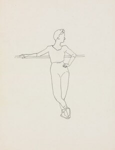 at the barre II pen and ink