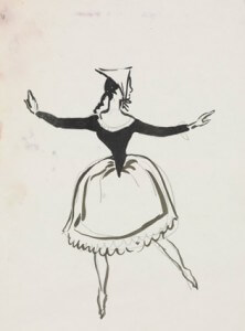 Folkloric costume II pen and ink