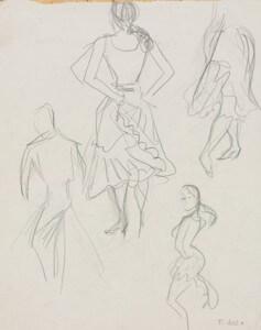Flamenco III pencil sketch