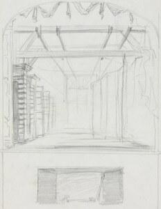 Theatre setting V pencil sketch