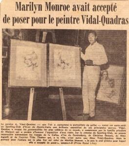 Alejo Vidal-Qaudras e Marilyn Monroe