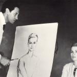 Alejo Vidal-Quadras pintando Grace Kelly