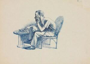 """Joueur d'échecs (frère de l'artiste - """"Tito"""")"""