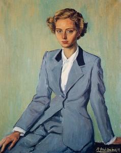 Mrs. José Correa oil, Barcelona, 1949