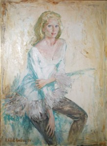 Tilda Tamar, idem oil, Paris, 1954