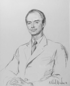 Grand-Duke Jean I of Luxembourg Fusain sur papier, 104 x 82, 1968