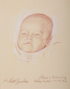 Alexis de Meaux conté y pastel, El Ampurdan, 1992