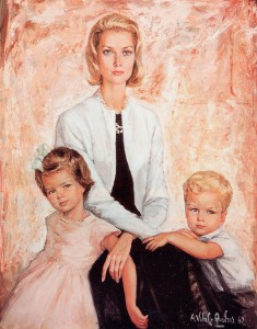 princess Grace of Monaco and her sons