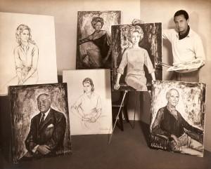 1960 - Alejo Vidal-Quadras e retratos pintados por ele