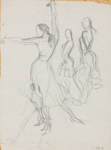 Flamenco I pencil sketch
