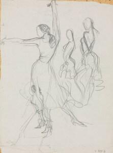 Flamenco I pencil sketch