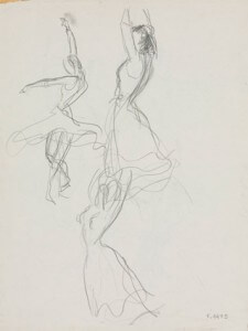 Flamenco II pencil sketch