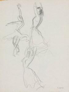 Flamenco II pencil sketch