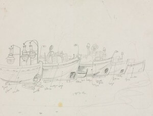 "pencil study for the ""Bateaux au Port"""