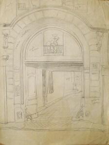 """Etude tableau """"Passage sous l'arche 34"""""""