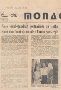 Nice Matin - Monaco - 13/08/1975