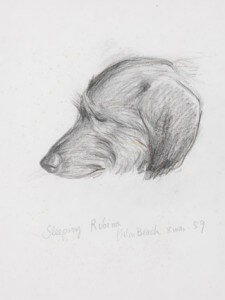 Sleeping Robina pencil and colored pencil, 1989