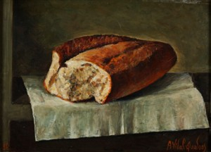 """Miche de pain sur table"""
