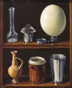 « Objets avec œuf d'autruche », óleo, 1990
