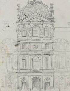 """""""Louvre, piéce centrale façade cotê Rivoli"""""""