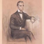 Javier Vidal-Quadras y Villavecchia, Alejo's father Retrat de Ramón Casas, carbonet, 1911, restaurat per l'Alejo Vidal-Quadras