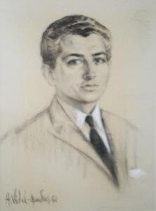 Sr. Bernard Sainte-Marie charcoal, Paris 1962