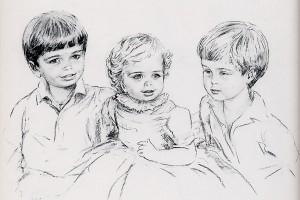princes Hamzah, Iman and Hashim of Jordanie