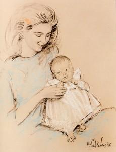 queen Noor of Jordanie and her daughter Marta