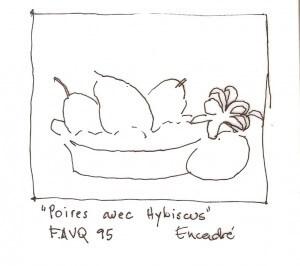 Poires avec hibiscus