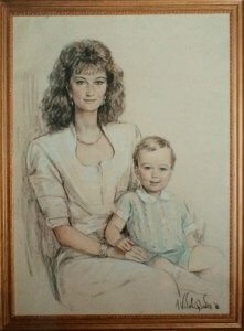 Madame Sophie Desmarais et son fils